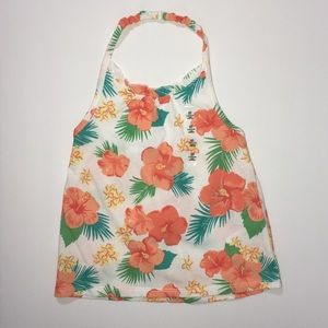 NWT C.Place 3T tropical floral halter top